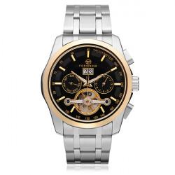 FORSINING 3 Dial Mechanical Flywheel Calendar Men Wrist Watch