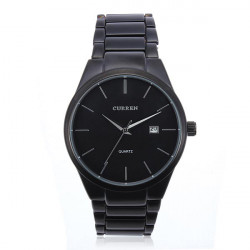 Fashion CURREN 8106 Black Stainless Steel Round Men Quartz Wrist Watch