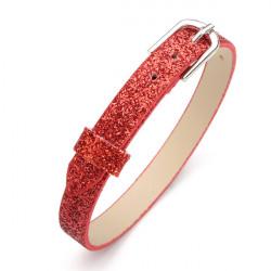 Fashion DIY 8mm Light Powder Mix Colour PU Leather Watch Band