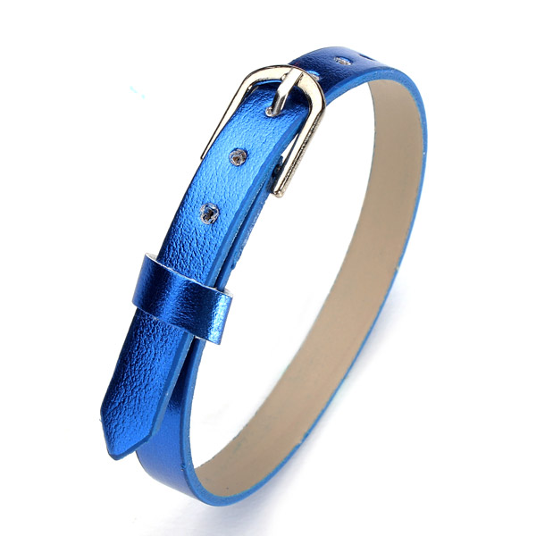 Fashion DIY 8mm Multi-color Smooth PU Leather Watch Band Watch Tools