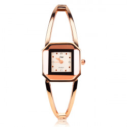 Fashion JW Crystal Rose Gold Bangle Bracelet Women Wrist Watch