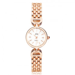 Fashion JW Gold Stainless Steel Bracelet Chain Women Wrist Watch