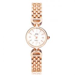 Fashion JW Gold Stainless Steel Bracelet Chain Women Wrist Watch