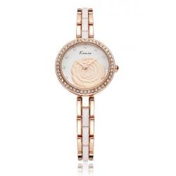Fashion KIMIO KW500 Rose Bracelet Chain Crystal Women Quartz Watch