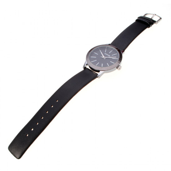 Fashion Leather Band Lovers Couple Wrist Watch Black 2021