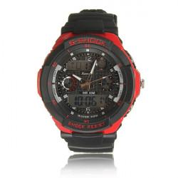 Fashion Male PU Leather Strap Sport Digital Quartz Wrist Watch
