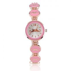 Fashion Mustache Bracelet Rose Gold Women Quartz Wrist Watch