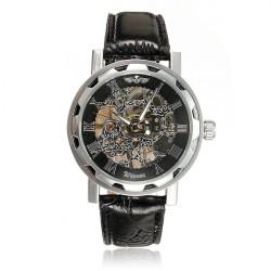 Fashion Punk Pierced Men Manual Mechanical Business Wrist Watch