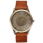 Fashion Retro Round Dial Leather Band Quartz Wrist Watch 4 Colors Watch