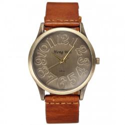Fashion Retro Round Dial Leather Band Quartz Wrist Watch 4 Colors