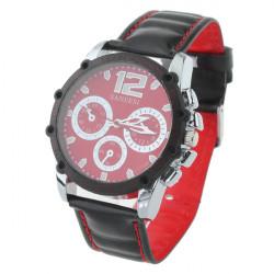 Fashion SANEESI Leather Pen Big Dial Men Quartz Wrist Watch