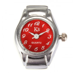 Fashion Simple Alloy Elastic Women Finger Ring Watch 6 Colors