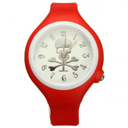 Fashion Skull Man Women Silicone Sport Candy Quartz Wrist Watch