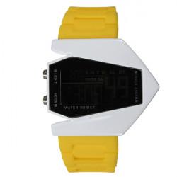 Fashion Sport LED Plane Digital Rubber Men Women Wrist Watch