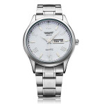 Fashion Stainless Steel Roman Silver Men Quartz Wrist Watch Watch
