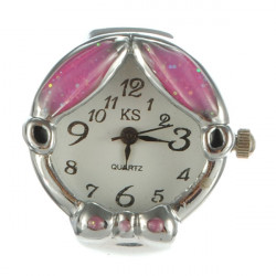 Fashion Sweety Bowknot Purple Finger Ring Watch Adjustable