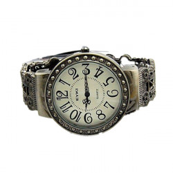Fashion Vintage Women Round Skeleton Bracelet Quartz Watch