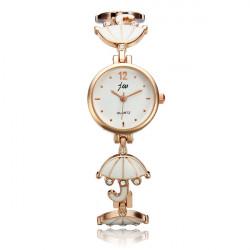 Fashion Women Diamond-studded Umbrella Bracelet Quartz Watch