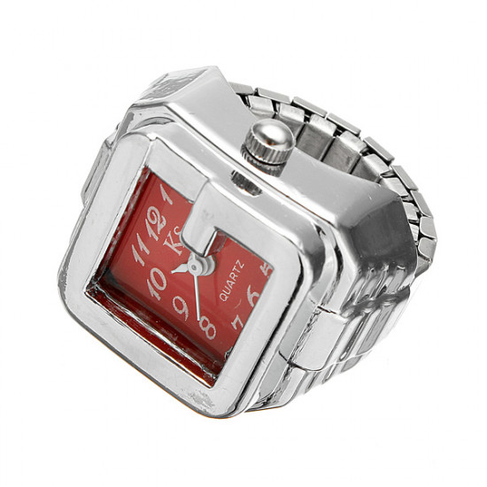 Fashion Women Square Watch Face Finger Ring Watch 4 Color 2021