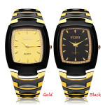 Fashion YISHI Stainless Steel Gold Black Men Wrist Quartz Watch Watch