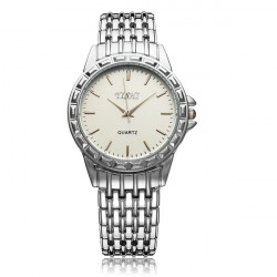 Fashion YISHI Stainless Steel White Black Men Wrist Quartz Watch