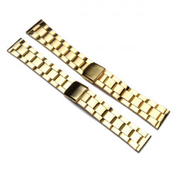 Gold Color 20mm 22mm Stainless Steel Strap Watch Band