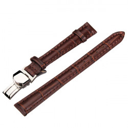 High Quality PU Leather Brown Men Women Wrist Watch Band