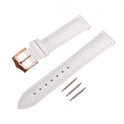 High Quality PU Leather White Men Women Wrist Watch Band