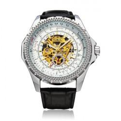 JARAGAR Automatic Mechanical Big Dial Multi Number Men Wrist Watch