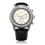JARAGAR Automatic Mechanical Leather Commercial Casual Watch Watch