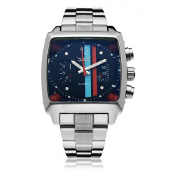 JARAGAR Automatic Mechanical Square Fashion Commercial Men Wrist Watch