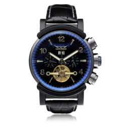 JARAGAR Luxury Automatic Mechanical Leather Men Wrist Watch