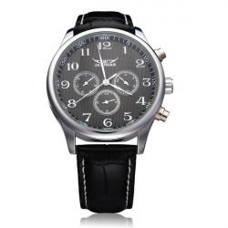 JARAGAR Mechanical Automatic 3 Dial Number White Black Men Watch