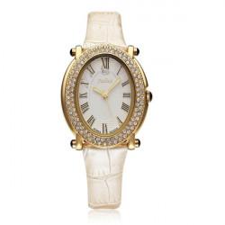 Julius JA-460 Lolita Roman Fashion Crystal Leather Women Watch