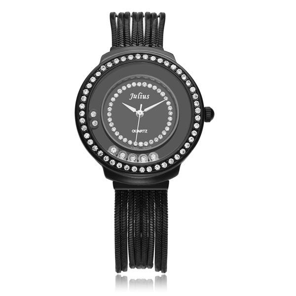 Julius JA-613 Chain Gold Crystal Fashion Luxury Women Quartz Watch Watch