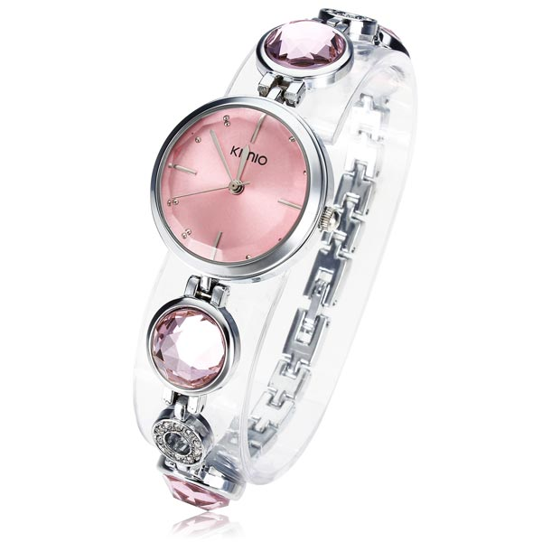KIMIO K465L Rhinestone Crystal Chain Bracelet Women Quartz Watch Watch