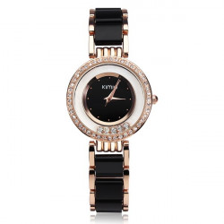 KIMIO K485 Elegant Crystal Ceramic Band Women Bracelet Watch