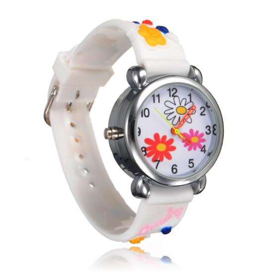 Kid Flower LED Light Wrist Watch Random Color 2021