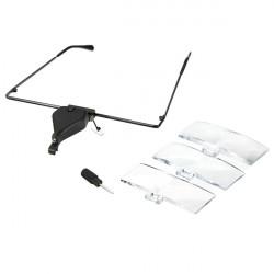LED 1.5X 2.5X 3.5X Reading Magnifier Eye Glasses Magnifying Lens Frame
