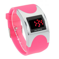 LED Arced Wrist Watch