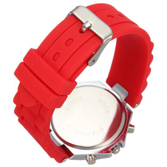 Ladies Silicone Crystal Rhinestone Quartz Jelly Wrist Watch 2021