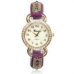 Lady Bling Crystal Band Quartz Bracelet Women Wrist Watch