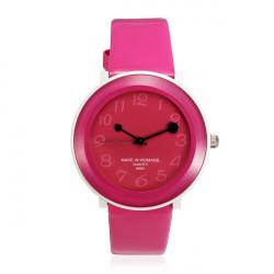 Leather Round Jelly Fashion Women Quartz Wrist Watch