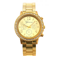 Luxury Women Lady Bling Crystal Stainless Steel Quartz Wrist Watch