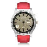 MILER A87 Sport Round PU Leather Women Men Quartz Wrist Watch Watch