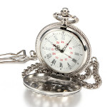 Men Alloy Carved Quartz Big Vintage Dangle Pocket Watch Father Gift