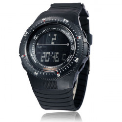 Men's Military Stopwatch Sport Data Digital Light Silicone Wrist Watch