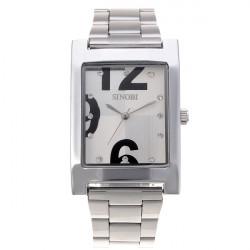 Men's Quartz White Stainless Steel couple watch Wrist Watch Japan Movement