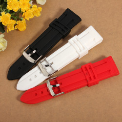 Mens Women Silicone Rubber Waterproof  Buckle 20-24mm Watch Band
