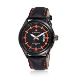 NAVIFORCE 9045 Leather Band Waterproof Quartz Watch Watch